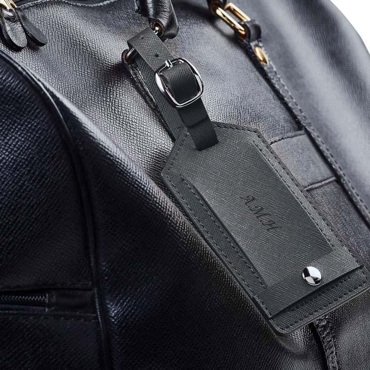 Étiquette à bagage Toscano en cuir véritable #2