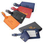 Toscano Genuine Leather Luggage Tag