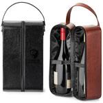 Étui de transport pour deux bouteilles de vin Fabrizio