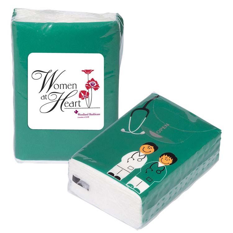 Paquet de mouchoirs de poche docteur et infirmière