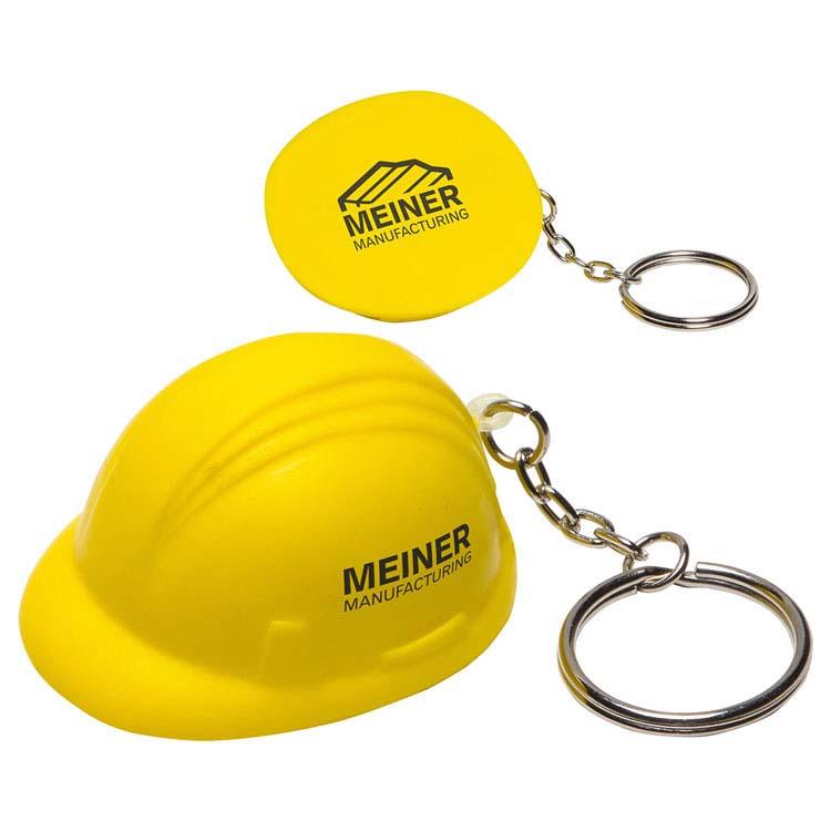 Porte-clés anti-stress casque de construction
