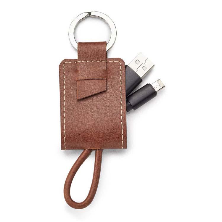 Porte-clés et trousse de charge Nathan en cuir véritable #3