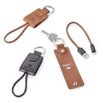 Nathan Genuine Leather Key Ring Charging Kit