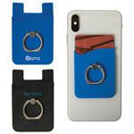 Braxton Silicone Phone Wallet with Ring