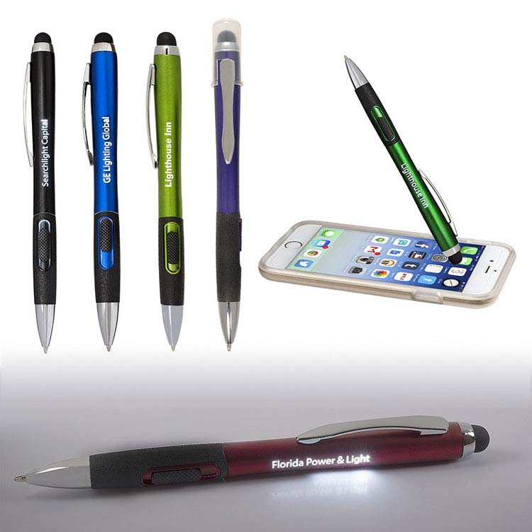 Stylo stylet lumineux avec une finition mate