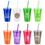 Trifecta Double Wall Insulated Tumbler with Lid and Straw