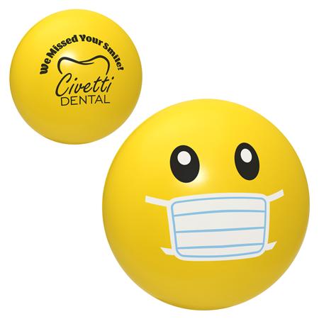 Balle anti-stress Emoji avec masque
