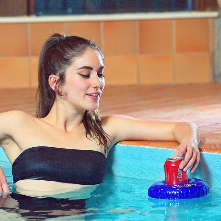 Bouée flottante gonflable Castaway avec haut-parleur étanche #2