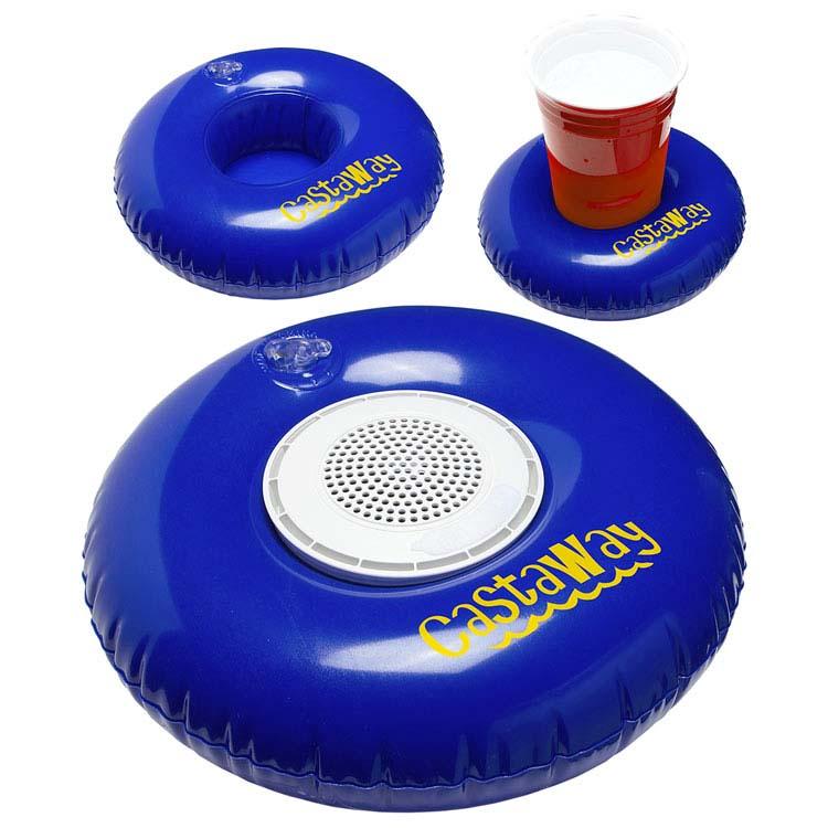 Bouée flottante gonflable Castaway avec haut-parleur étanche