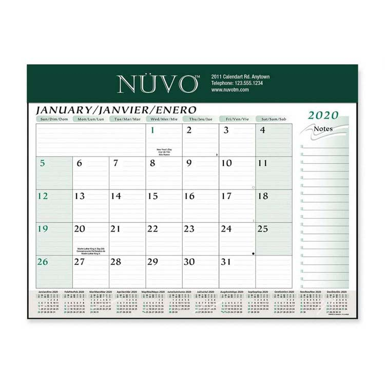 Calendrier sous-main Deluxe
