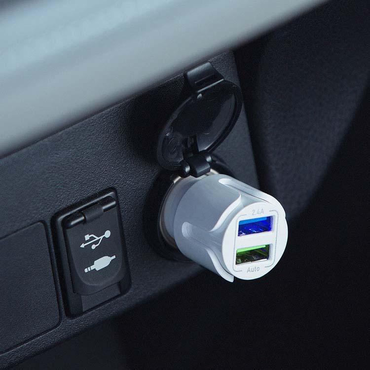 Chargeur de voiture ihub Smart à deux prises USB #3