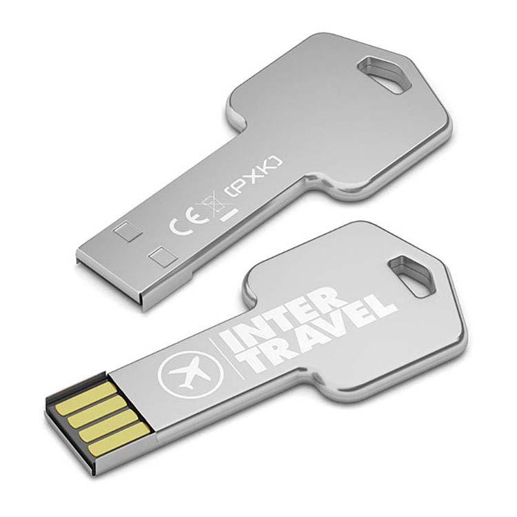 Clé USB argentée