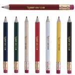 Crayon de golf hexagonal avec efface