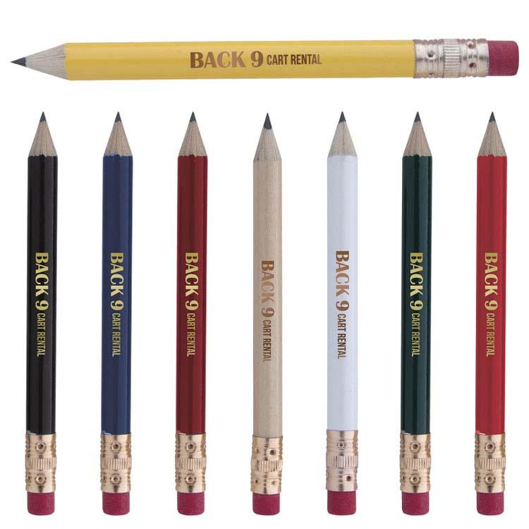 Crayon de golf rond avec efface