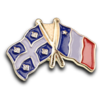 Quebec Acadie Flags Pin