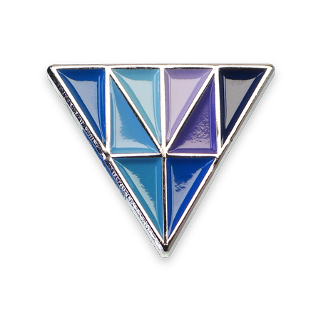Épinglette émaillée triangle