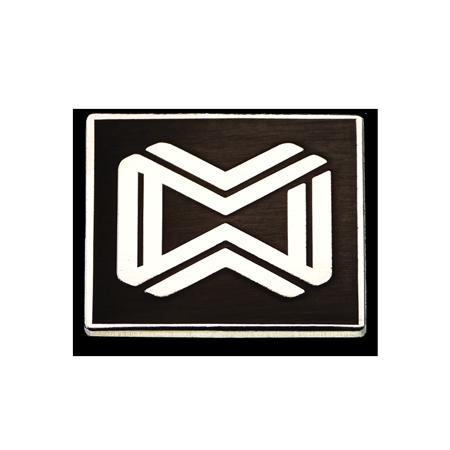 Épinglette rectangulaire plaquée argent #3