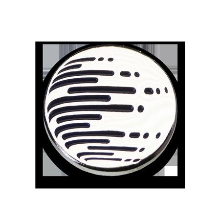Épinglette ronde plaquée argent #2