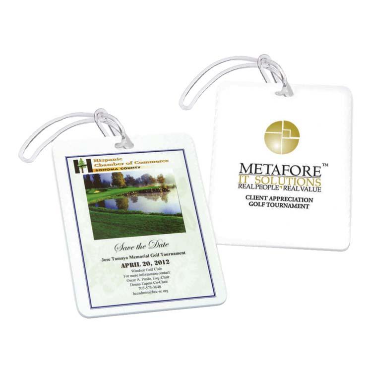Étiquette rectangulaire pour sac de golf #2