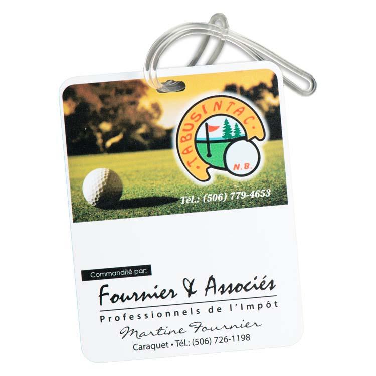 Étiquette rectangulaire pour sac de golf