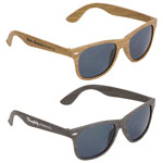 Sebring UV400 Wood Grain Sunglasses