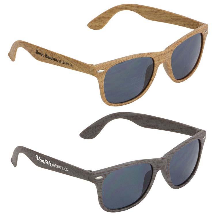 Lunettes de soleil Sebring UV400 grain de bois