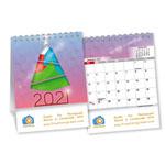 Mini Double View Desk Calendar