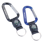 Carabiner 8mm With Decorative Compass