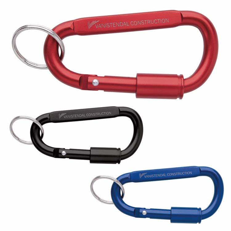 Mousqueton porte-clés avec serrure