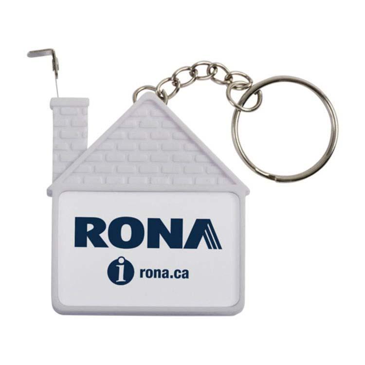 Porte-clés gallon à mesurer en forme de maison