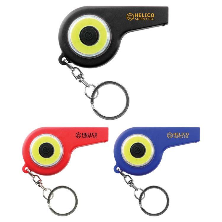 Porte-clés sifflet d'urgence COB