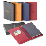 Porte-passeport Toscano IDRF avec carnet mémo en cuir véritable