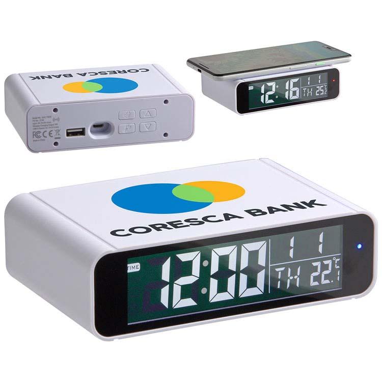 Réveil numérique Twilight avec chargeur sans fil 5W