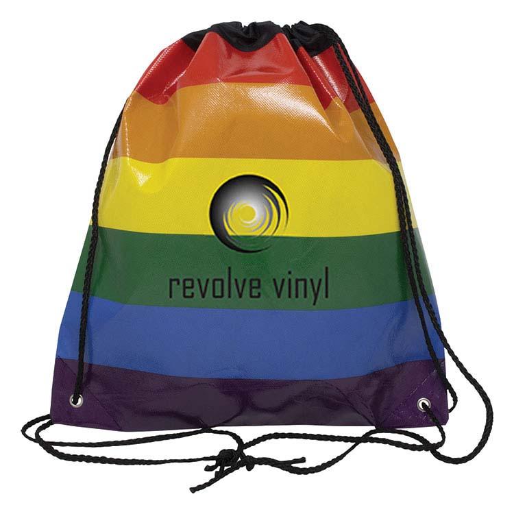 Jumbo Rainbow Drawstring Backpack