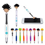 Multicultural MopToppers Screen Cleaner with Stylus Pen Tan