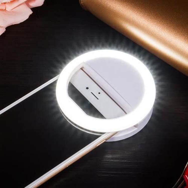 Anneau lumineux rechargeable pour réunion en ligne