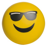 Balle anti-stress Emoji Monsieur Cool