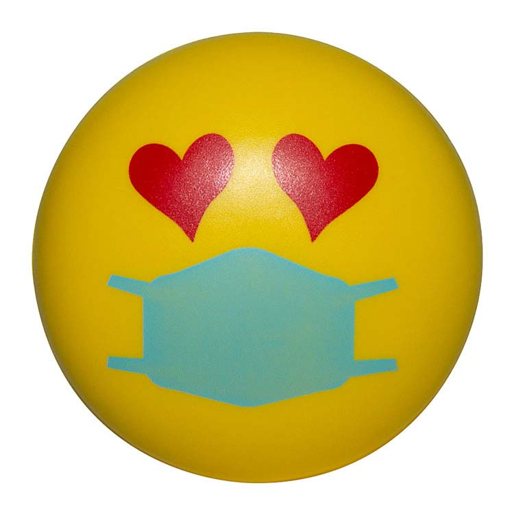 Balle anti-stress Emoji PPE Amoureux