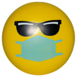 Balle anti-stress Emoji PPE Cool