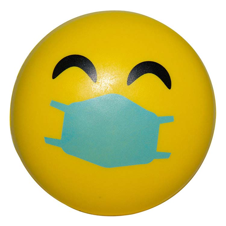 Balle anti-stress Emoji PPE Heureux