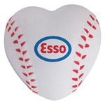 Balle de baseball anti-stress en forme de coeur