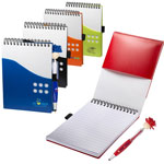 Bloc-notes bicolore MopToppers avec stylo