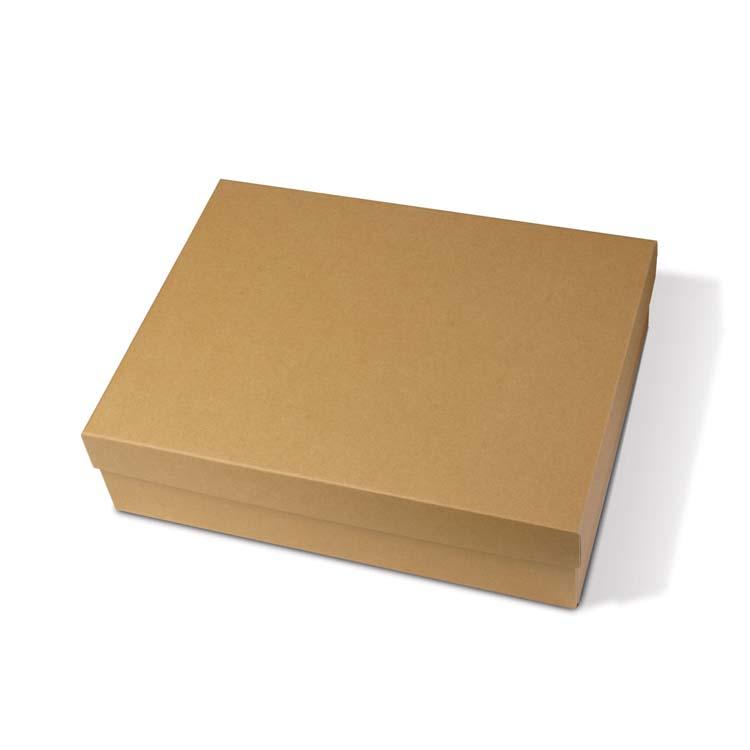 Boîte-cadeau écologique de deux pièces avec papier recyclé ondulé #2