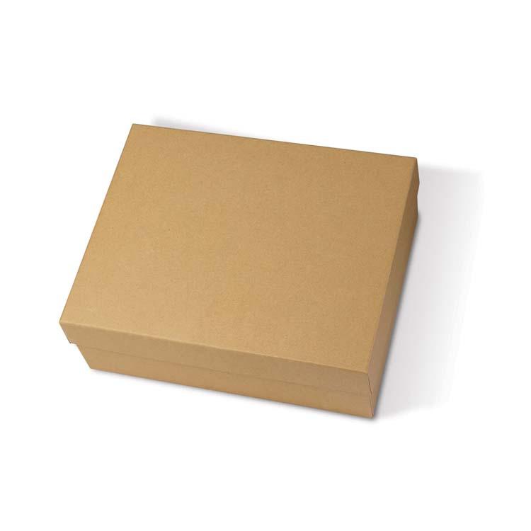 Boîte-cadeau écologique de deux pièces et papier recyclé ondulé #2