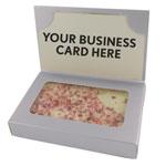 Boîte cartes d'affaires écorce de menthe poivrée/biscuit au beurre
