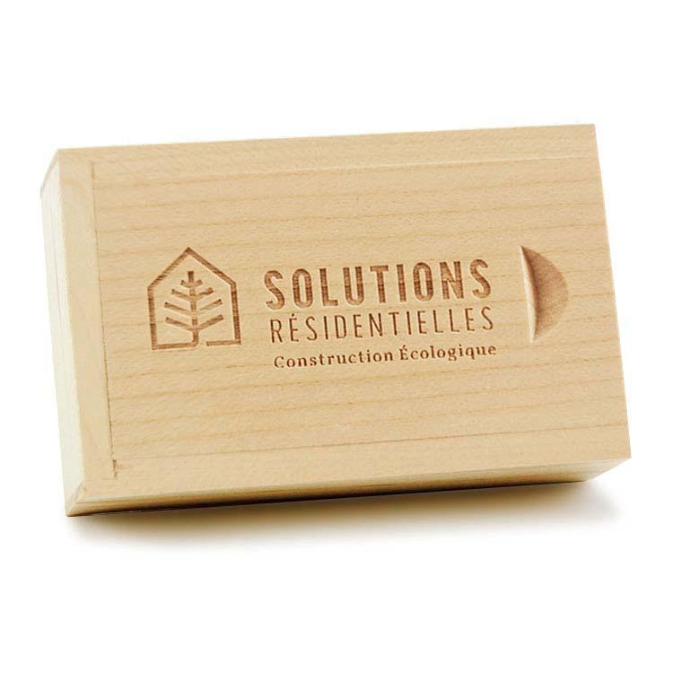 Boîte en bois pour clé USB