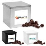 Boîte en métal fèves d'expresso au chocolat noir
