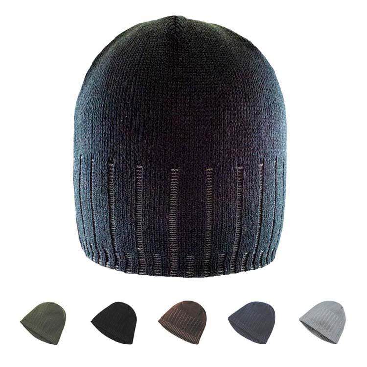 Bonnet en acrylique à rayures jacquard