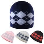 Bonnet en tricot d'acrylique à motif Argyle