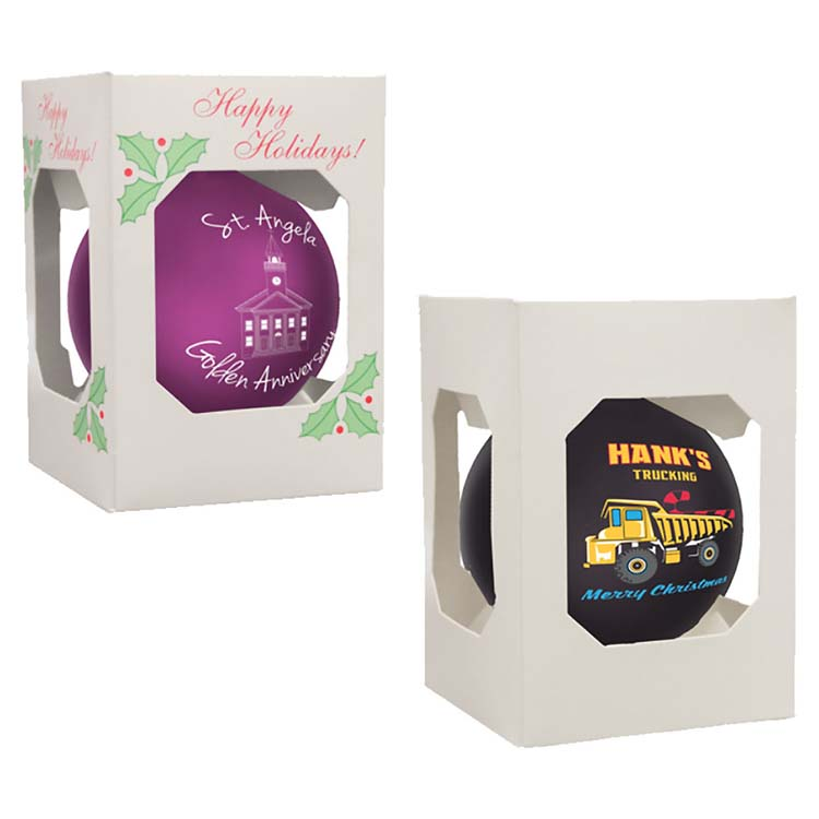 Boule de Noël ronde brillante incassable #2
